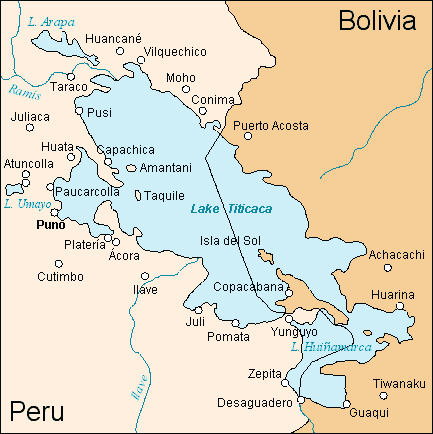 Titicaca - map